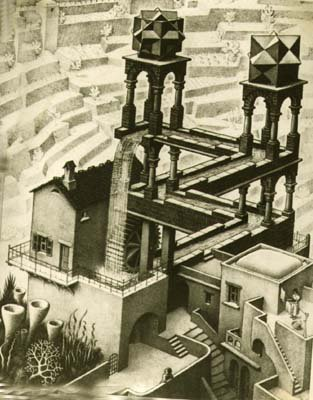 Escher print of obscure significance